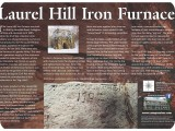 Laurel Hill Iron Furnace sign